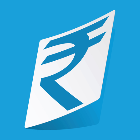 rupee: Indian rupee sticker Illustration