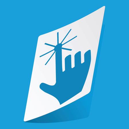 3 d illustrations: Hand cursor sticker Illustration