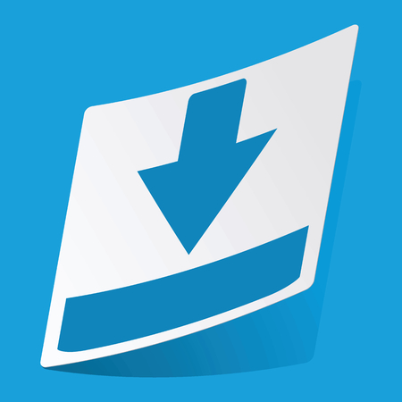 d data: Download sticker