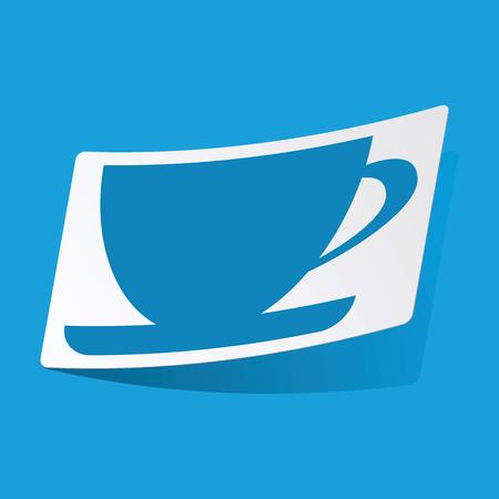 3 d illustrations: Cup sticker Illustration