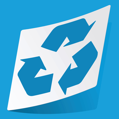 3 d illustration: Recycle sticker