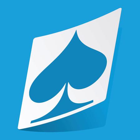 spades: Spades sticker Illustration