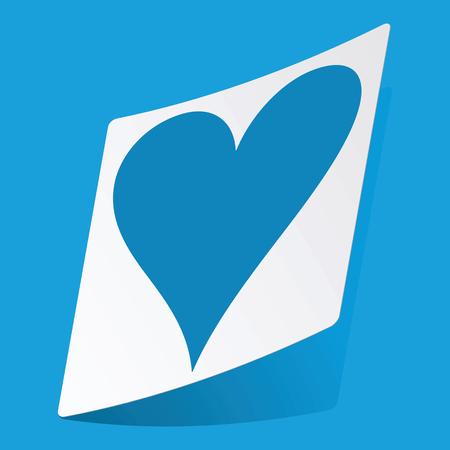 3 d illustrations: Hearts sticker