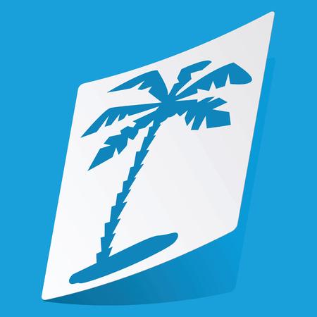 3 d illustrations: Palm sticker