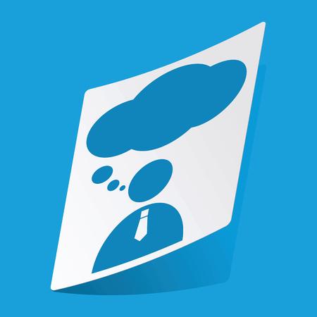 3 d illustrations: Thinking person sticker Illustration