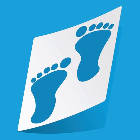 3 d illustrations: Footprint sticker Illustration