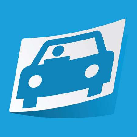 3 d illustration: Car sticker