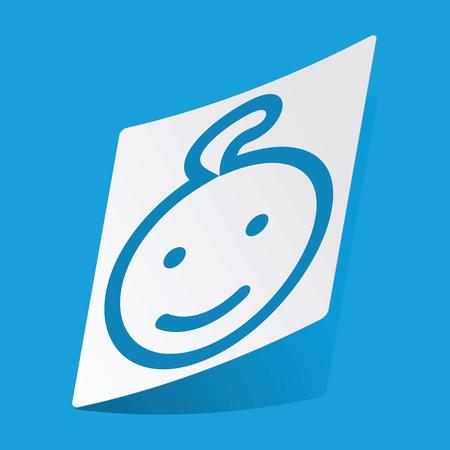 enfant qui sourit: Sourire enfant vignette Illustration