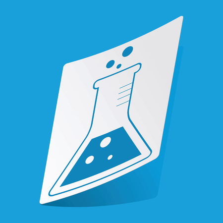 conical: Conical flask sticker