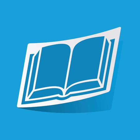 3 d illustrations: Book sticker