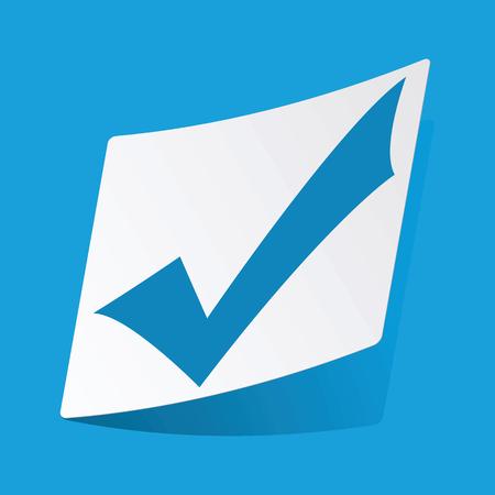 tick mark: Etiqueta marca de Tick Vectores