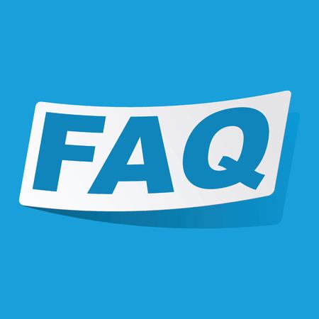 FAQ sticker