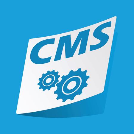 d data: CMS settings sticker