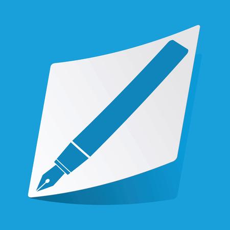 3 d illustrations: Ink pen sticker