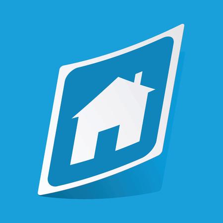 3 d illustrations: House sign sticker