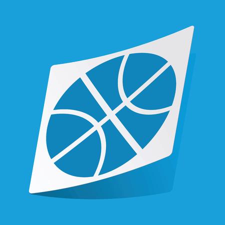 3 d illustration: Basketball sticker