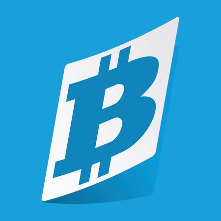 3 d illustrations: Bitcoin sticker