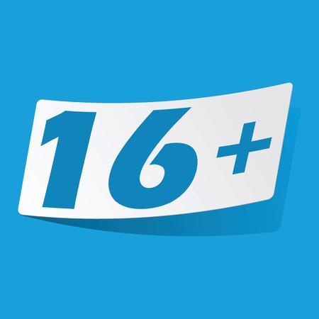 16: Over 16 sticker