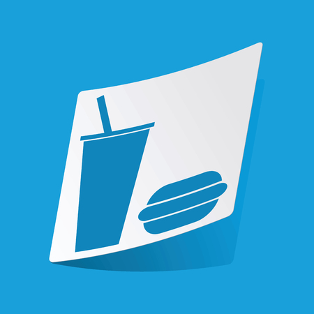 3 d illustrations: Fast food sticker