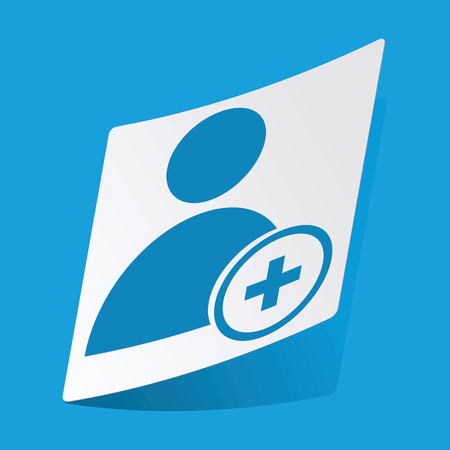 user icon: Add user sticker