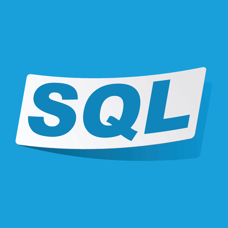 3 d illustration: SQL sticker