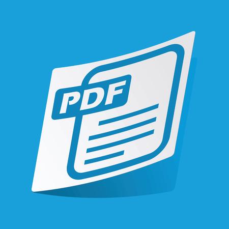 d data: PDF file sticker