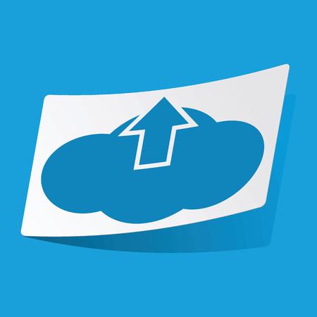 d data: Cloud upload sticker