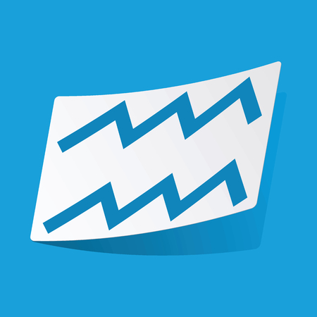 water bearer: Aquarius sticker Illustration