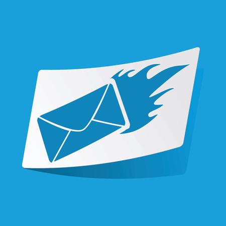 burning letter: Burning letter sticker