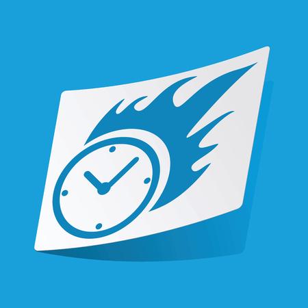 bounds: Burning clock sticker Illustration