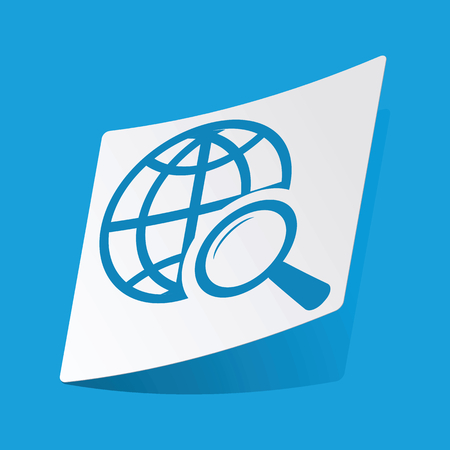 3 d illustration: Global search sticker Illustration