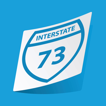 interstate: Interstate 73 sticker
