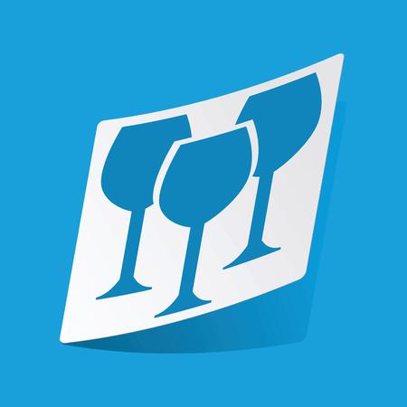 3 d glasses: Wine glass sticker