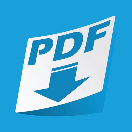 d data: PDF download sticker Illustration