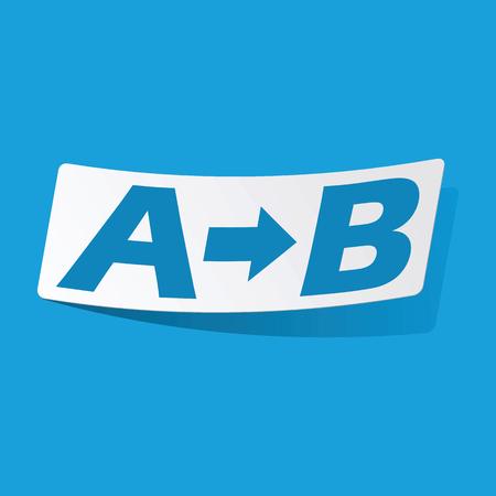 derivation: A to B sticker Illustration