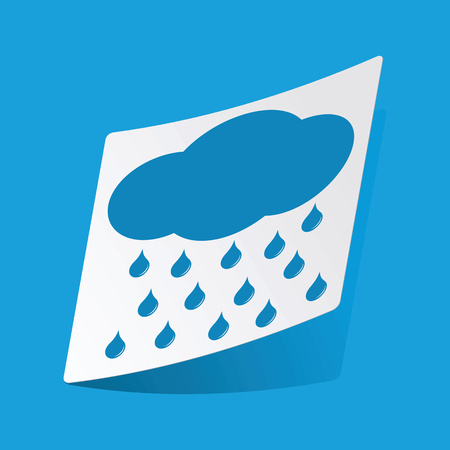sleet: Raining sticker Illustration