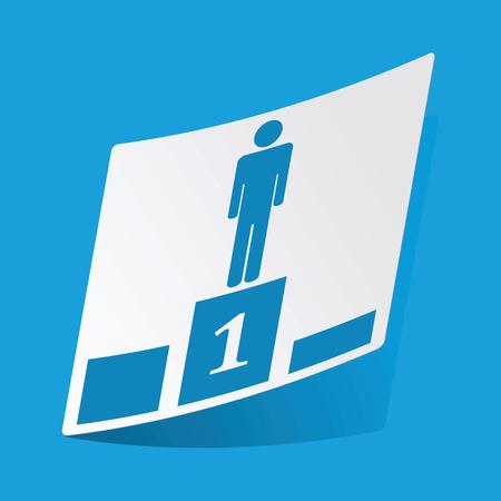3 d illustrations: Pedestal sticker