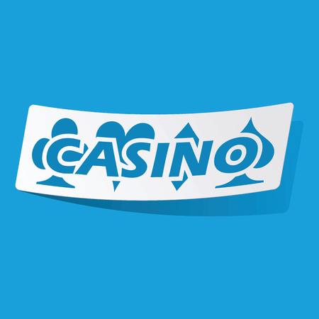 3 d illustrations: Casino sticker