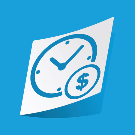 3 d illustrations: Time is money sticker