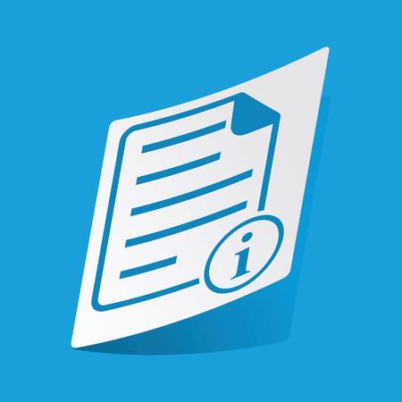d data: Information document sticker