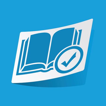 3 d illustrations: Select book sticker