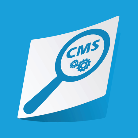 3 d glasses: CMS search sticker