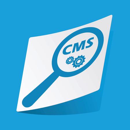 CMS search sticker