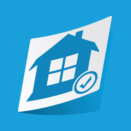 d mark: Select house sticker