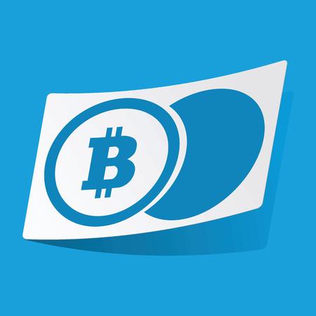 3 d illustrations: Bitcoin coin sticker