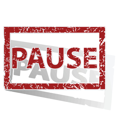 PAUSE outlined stamp