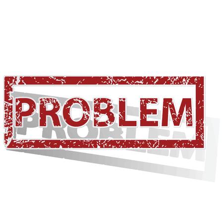 problem: PROBLEM outlined stamp Illustration