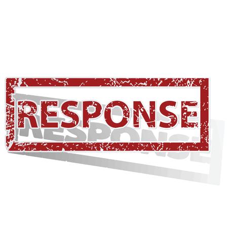 response: RESPONSE outlined stamp Illustration