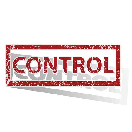 CONTROL outlined stamp Illustration