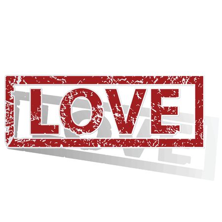 love stamp: LOVE outlined stamp Illustration